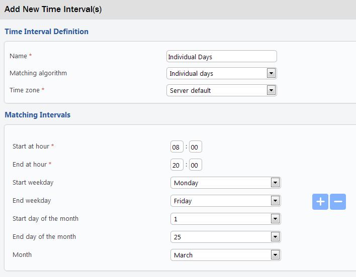 Telsome-Añadir nuevo intervalo de tiempo