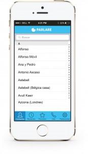 parlare llamadas internacionales baratas app iphone android agenda