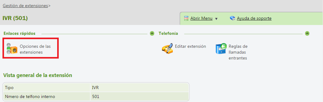 centralita virtual telsome ivr opciones