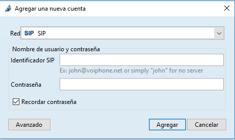 jitsi agregar cuenta manual configuración telsome