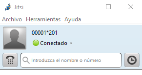 jitsi manual configuración conectado