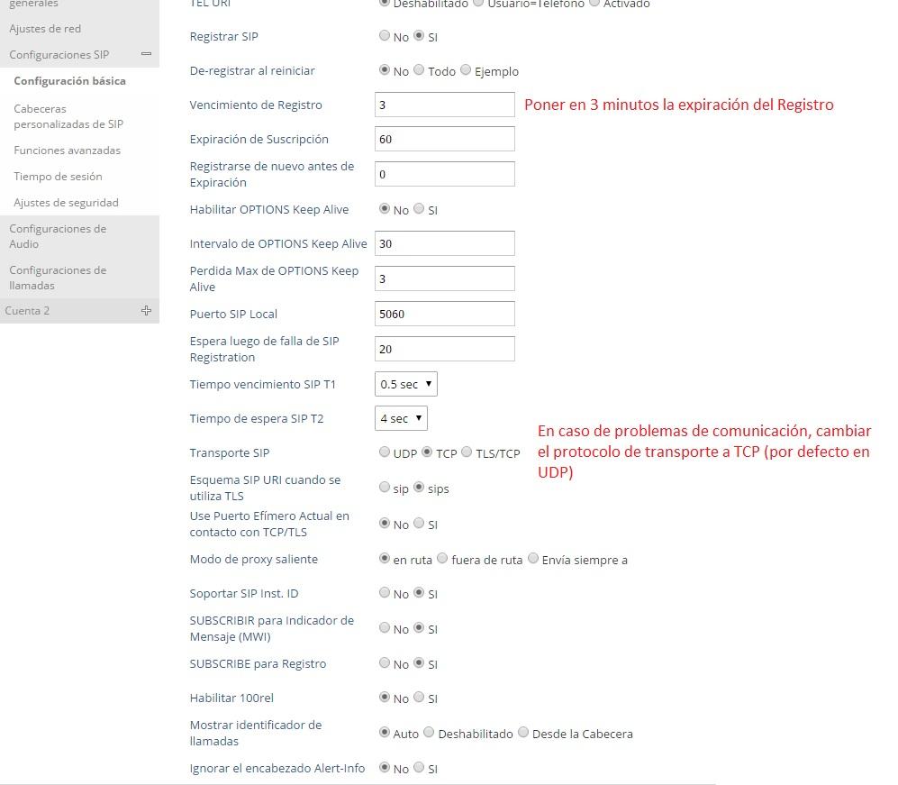 manual configuracion grandstream gxp 1610 1625 cambiar tiempo telefonia ip telsome