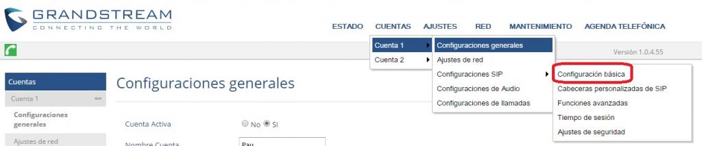 manual configuracion grandstream gxp 1610 1625 cuentas telefonia ip telsome