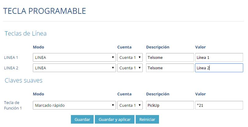 manual configuracion grandstream gxp 1610 1625 programar 3 teclas telefonia ip telsome