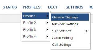 perfil configuración grandstream dp 720