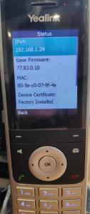 yealink w60p w60b w53h w56h obtener ip telefono ip