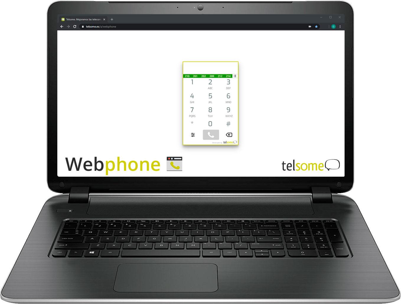 web phone para teletrabajar con el ordenador