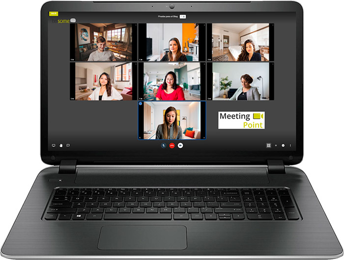 video conferencia empresarial Meeting Point, de Telsome