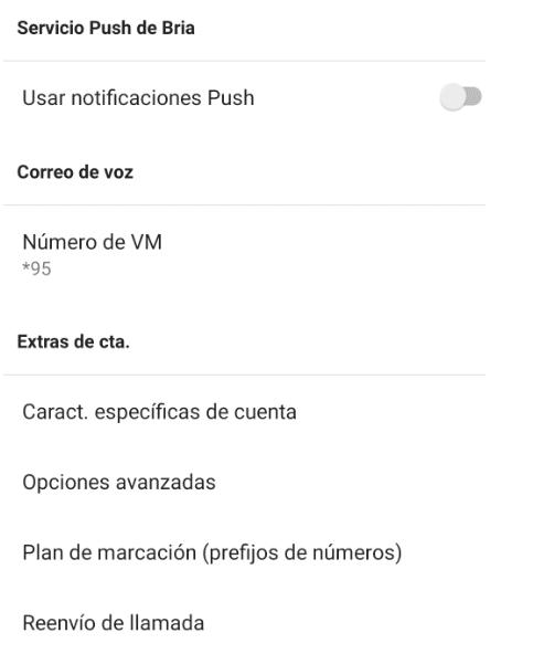 manual configuración Bria voip - detalles cuenta sip
