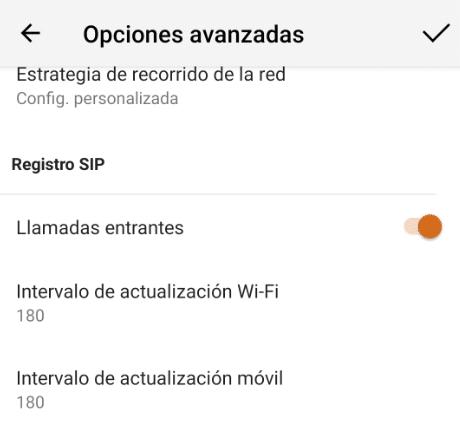 manual configuración Bria voip - registro SIP